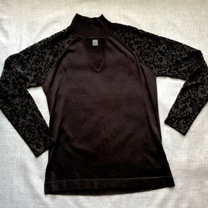 Black sweater with cutout